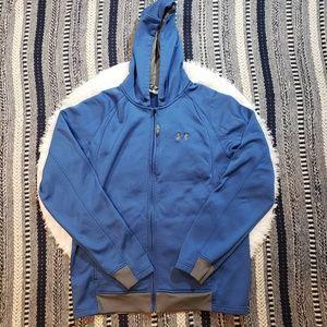 Under Armour Men's Blue Fleece Full Zip Hoodie